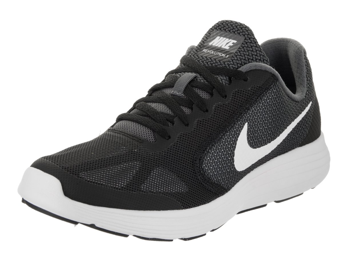 Nike Kids Revolution 3 (GS) Dark Grey/White/Black Running Shoe 5.5 Kids US by Nike (Image #1)