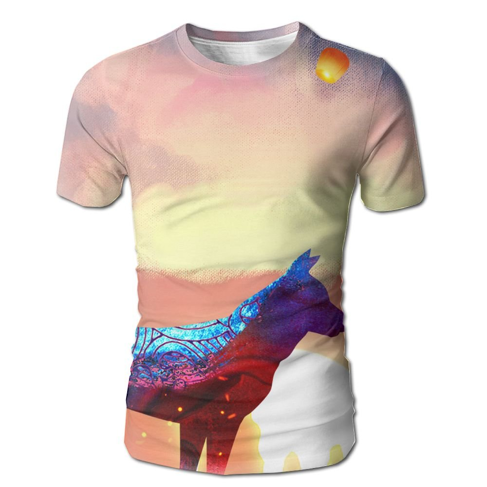 XIA WUEY Color Watercolor Dog Quick Dry Baseball Tshirt Graphic Tee Tops For Gym