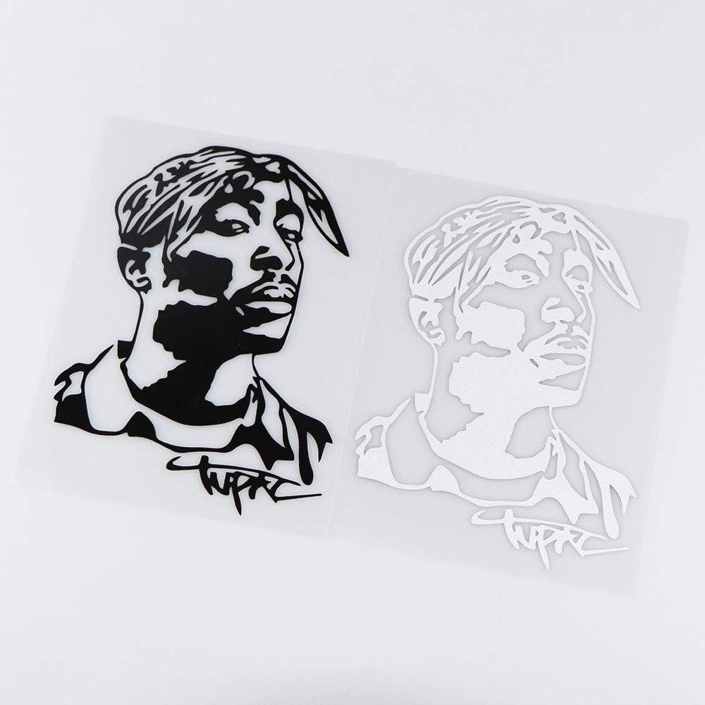 Color Name : Black Tout recommencer Autocollant de Voiture Autocollants /à gratter 13X17.8CM Tupac Hip Hop Musicien d/écalque de Vinyle Creative Art Autocollant de Voiture