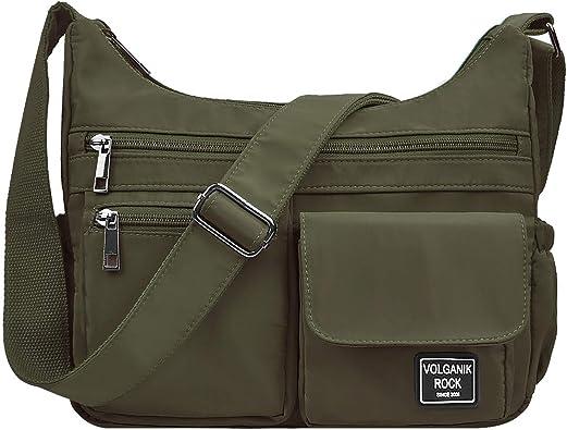Women/'s BAGS NYLON WATERPROOF Messenger Zipper Crossbody TRAVEL SHOULDER BAG