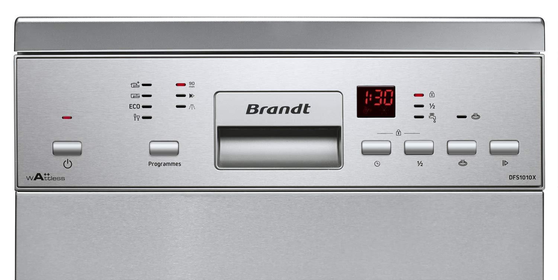 Lavavajillas estrecho inox Brandt DFS1010W: Amazon.es ...