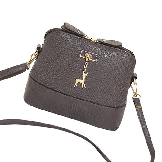 2ed1efe06740 Amazon.com: ❤️Sunbona Retro Messenger Bag for Women Mini Bag Deer ...