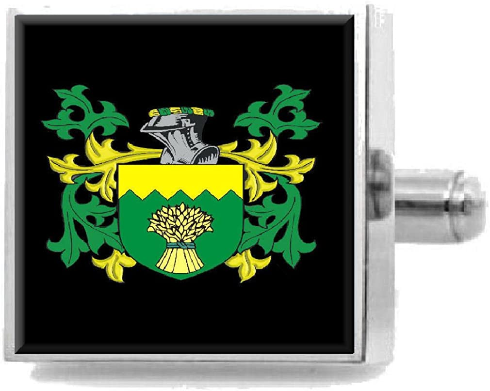 Select Gifts Beel England Heraldry Crest Sterling Silver Cufflinks Engraved Message Box