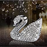 Car Air Freshener Aromatherapy Essential Oil Diffuser Diamond Locket with Car Perfume Car Fragrance Diffuser Vent Clip Swan Bling Car Interior Accessories , AMind (A Pair)