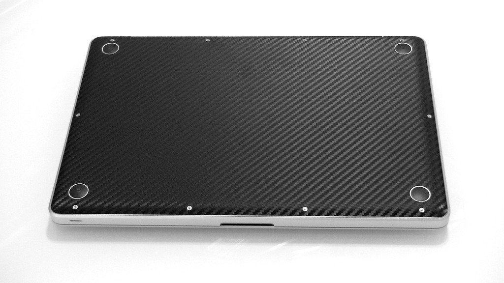iCarbons Black Carbon Fiber Vinyl Skin for MacBook Pro 13'' (Silver Unibody) Full Combo by iCarbons (Image #4)