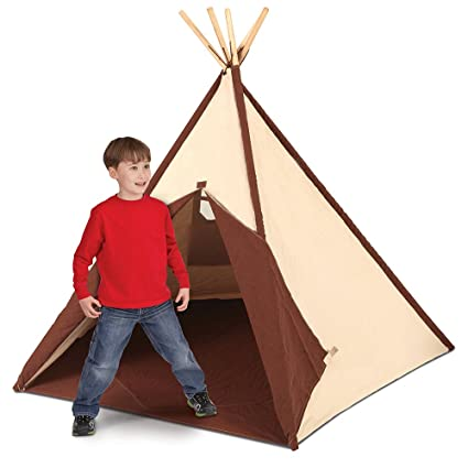 Pacific Play Tents Authentic Kids Teepee Tent Cotton Canvas Sides and Bamboo Poles  sc 1 st  Amazon.com & Amazon.com: Pacific Play Tents Authentic Kids Teepee Tent Cotton ...