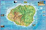 Kauai Island Hawaii Guide Franko Maps Laminated Map