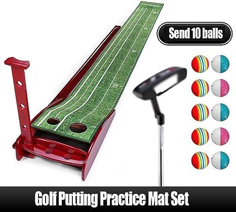 Golf Golf Putting Mat Juego de colchonetas de práctica de golf ...
