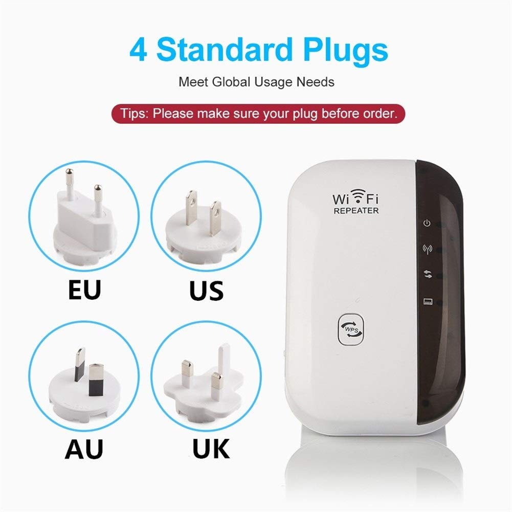 JYSL Repetidor Inal/ámbrico WiFi Extensor De Rango WiFi Amplificador De Se/ñal WiFi 300 Mbps WiFi Booster 802.11n Color : Original Box Black B//G Punto De Acceso WiFi Ultraboost