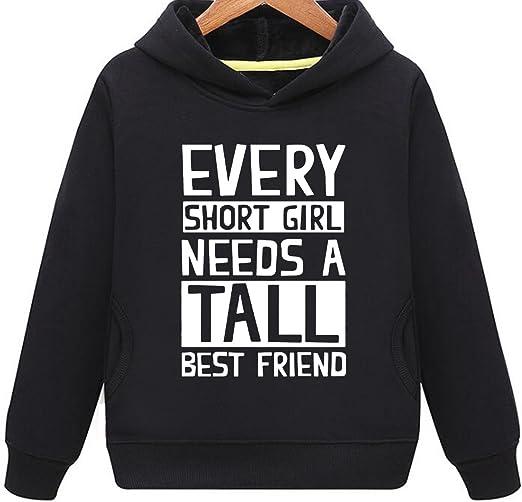 Ptarmigan Short and Tall Best Friend BFF Humor Unisex Hoodie