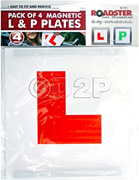 L /& P Learner Plates Magnetic Learning /& Newly Qualified NEW Drivers 4 Piece Set