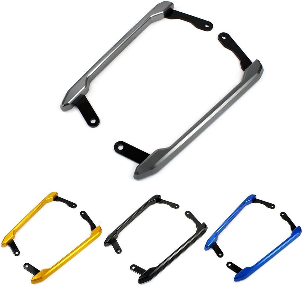 FATExpress Motorcycle CNC Aluminum Rear Passenger Pillion Seat Grab Bar Hand Handle Rail Kit for 13-19 Yamaha MT FZ 09 MT-09 FZ-09 MT09 FZ09 Accessories 2013 2014 2015 2016 2017 2018 2019 Black