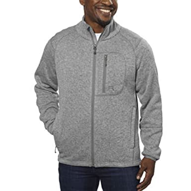 Avalanche® Men's Full Zip Fleece Jacket-Dove Gray, Medium at ...
