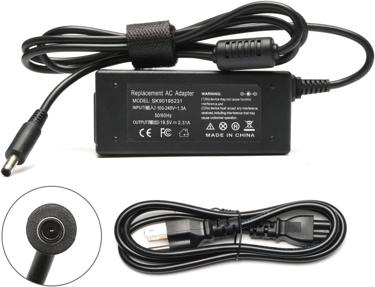 Tinkon 45W AC Power Adapter Charger Replace for Dell Inspiron 15 5000 5551 5555 5558 7558 7595 13 7378 7352 7348 11 3000 Series Laptop