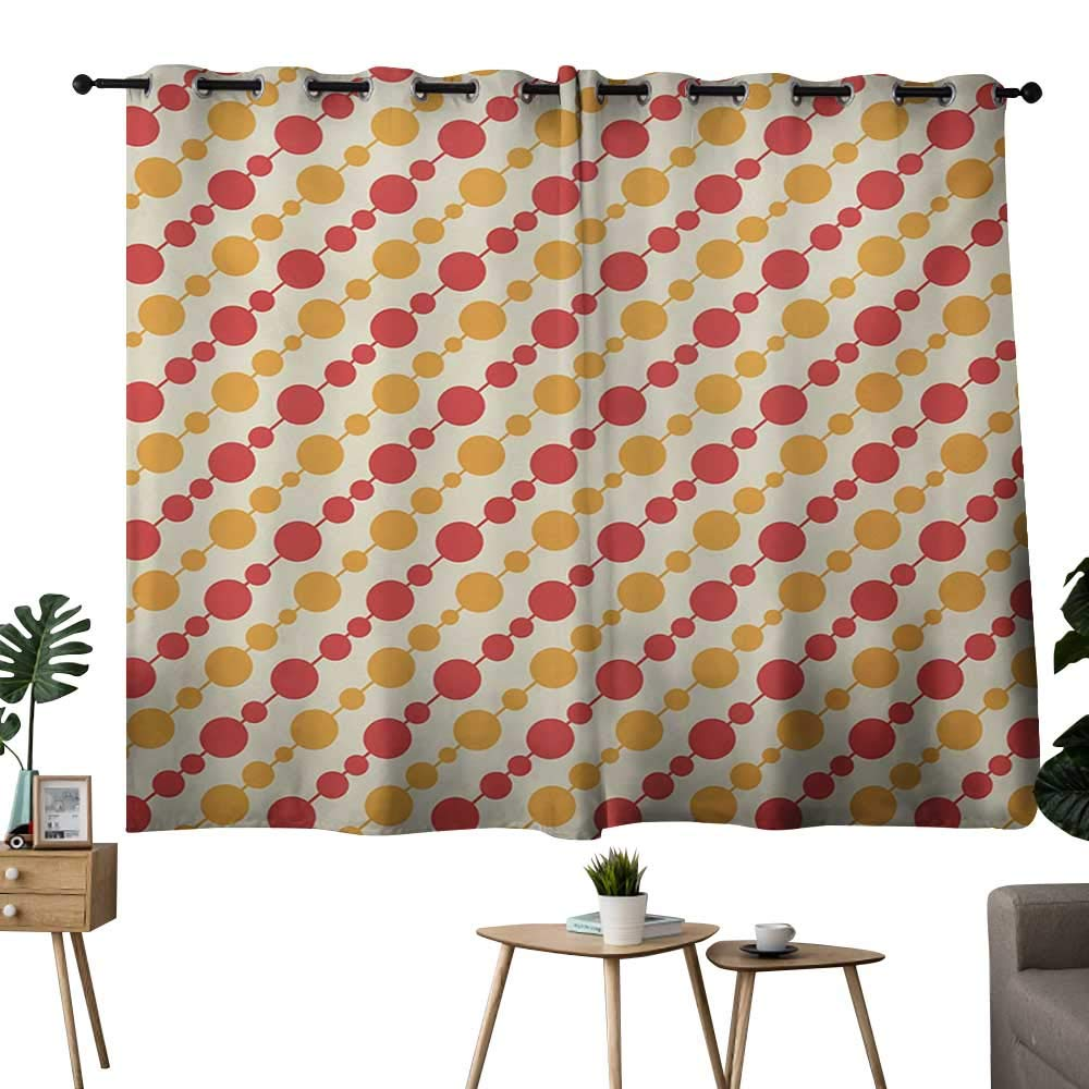 color02 42 x72 (W106cmxL182cm) NUOMANAN Thermal Insulated Blackout Curtain Kids bluesh and Coconut Treatments Thermal Insulated Light Blocking Drapes Back for Bedroom 42 x45