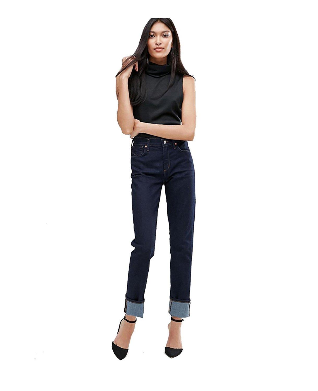 A Gold E Women's Bella High-Rise Slim Jeans (29, Venice)