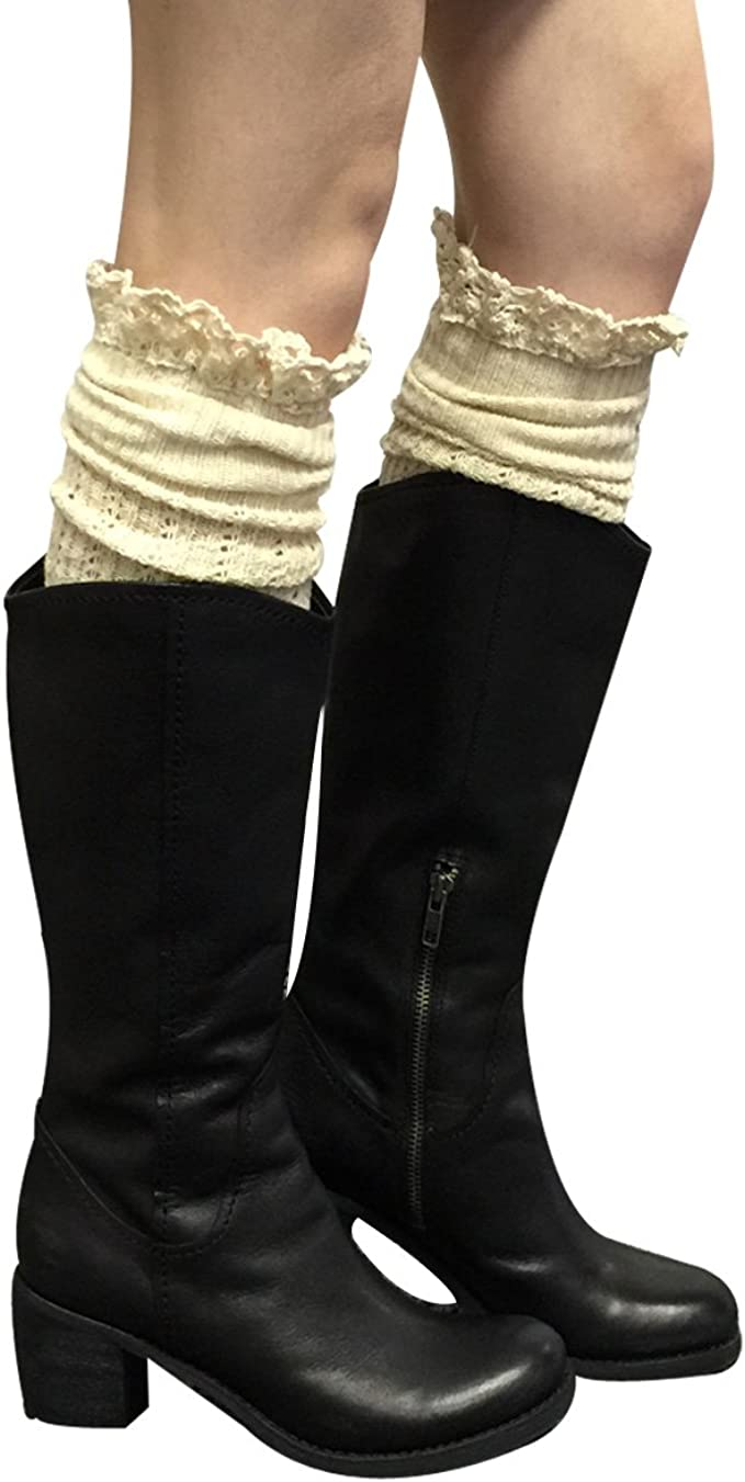 Wrapables Womens Ribbed Knee High Boot Socks