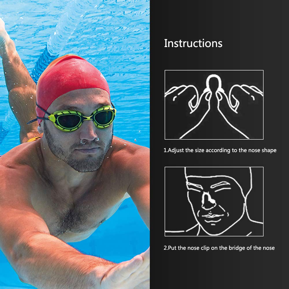 Silicone Nose Plug for Swimming and Training,Adults,Kids,Swimming Beginner,Swimming Accessories,Bule Swimming Nose Clip UHBGT 14pcs Waterproof Nose Protector