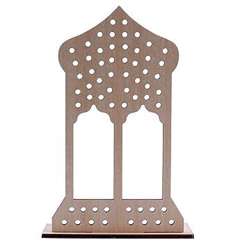 Eid Mubarak Ramadan Festival Placa de madera Decoración Musulmán ...
