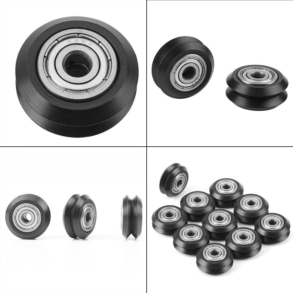 10pcs Passive Round Plastic Pulley Bearing POM Bearing Idler Pulley for 3D Printer