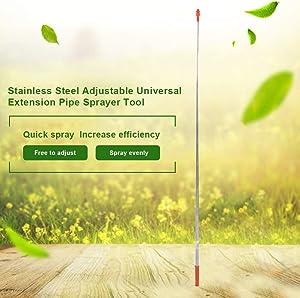 Spray Lance Garden Tool 2.6m Stainless Steel Adjustable Universal Extension Pipe Sprayer Tool for Garden Watering Multifunctional Home Garden