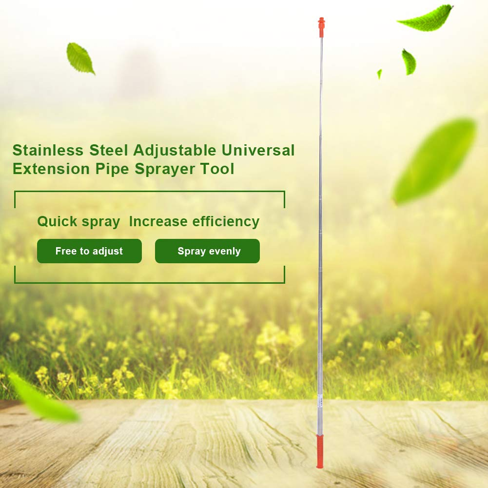Spray Lance Garden Tool 2.6m Stainless Steel Adjustable Universal Extension Pipe Sprayer Tool for Garden Watering by Jeffergarden