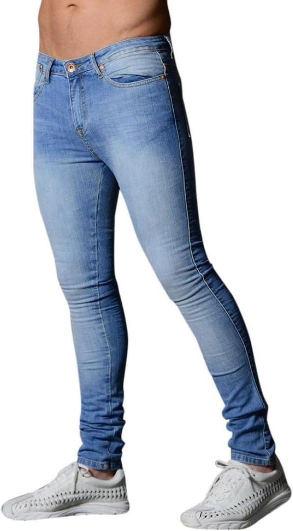 LuckyGirls Pantalones Vaqueros Hombre Elasticos Originales Slim Fit Skinny Pantalones Deportivos Personalidad Denim Pantalón Pitillo