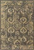Loloi Rugs IZMIIZ-04CCGO28A0 Izmir Collection Contemporary Area Rug Runner, 2'-8'' x 10', Charcoal/Gold