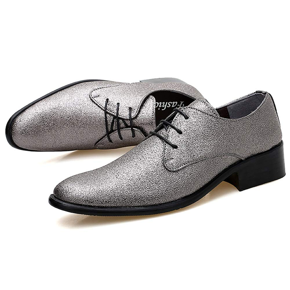 YLY Mens Fashion Oxford Casual Personality Colorful Stylish Men Low Top Lace-up Formal Shoes Driving Shoes