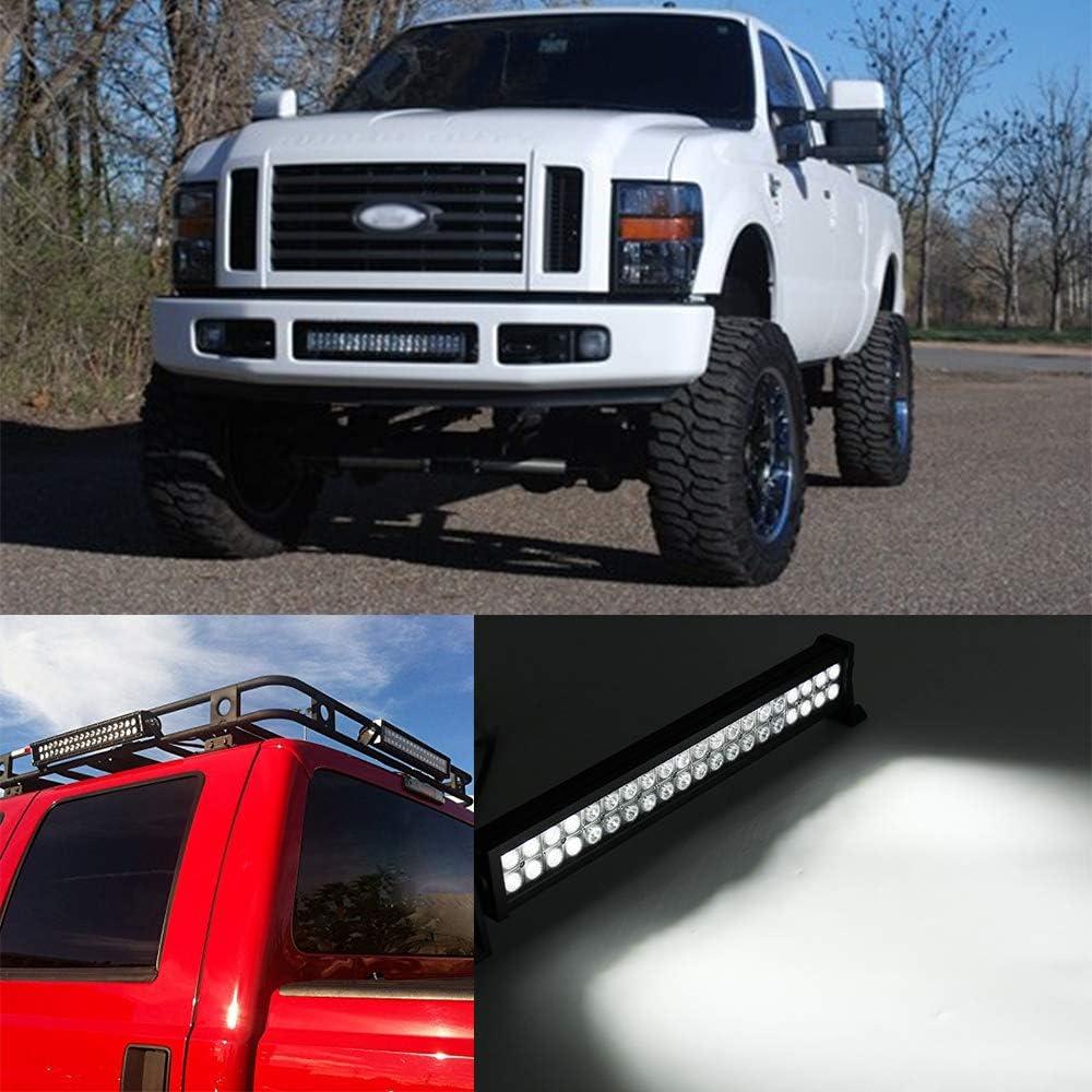 Willpower 12 Zoll 72W zweireihige LED-Lichtleiste super hell Offroad LED Arbeitslicht Spot Flut Combo fahren Nebelscheinwerfer f/ür 4WD Truck ATV UTV Boot