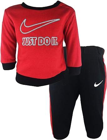 Nike Just Do It Conjunto De Sueter Y Pantalones Para Nino Black Univ Red 24 Meses Amazon Com Mx Ropa Zapatos Y Accesorios