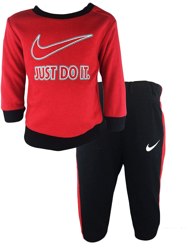 Nike Boys Just Do It Sweater & Pants Set (12 Months, Black(UNIV ...