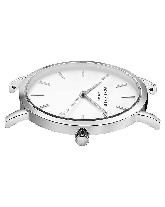Rosefield Reloj Analógico para Mujer de Cuarzo con Correa en Acero Inoxidable MWSM40: Amazon.es: Relojes