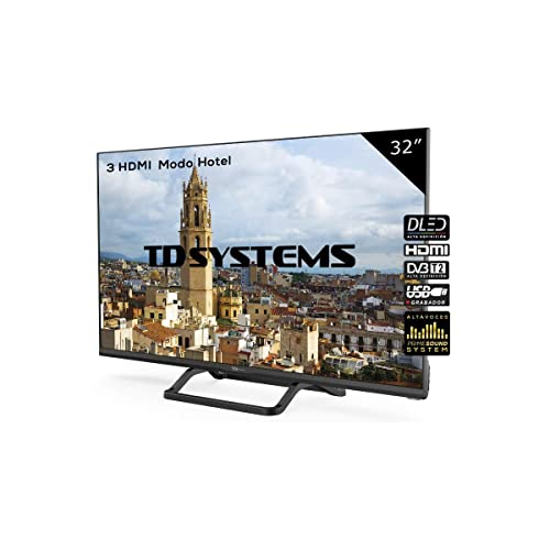 Televisor Led 32 Pulgadas HD TD Systems K32DLX9H Resolución 1366 x 768 3X HDMI VGA USB Reproductor y Grabador