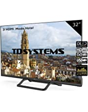 Televisor Led 32 Pulgadas HD, TD Systems K32DLX9H. Resolución 1366 x 768, 3X HDMI, VGA, USB Reproductor y Grabador.