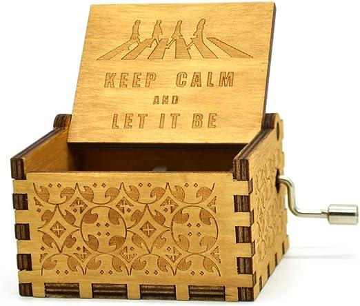 Caja de música de Beatles, cajas musicales de manivela de madera ...