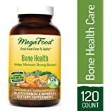 MegaFood - Bone Health, Multivitamin Support for Bone Strength, Muscle Function, Healthy Mood, and Joints with Calcium, Vitamin D3, and Magnesium, Vegetarian, Gluten-Free, Non-GMO, 120 Tablets