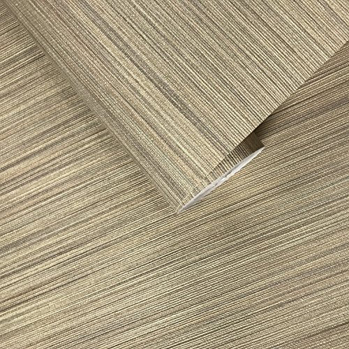 76 sq.ft rolls Italian Portofino textured wallcoverings modern embossed Vinyl Wallpaper beige green brown gold metallic faux grass cloth fabric imitation horizontal stria lines plain 3D wall coverings - Faux Grass Cloth