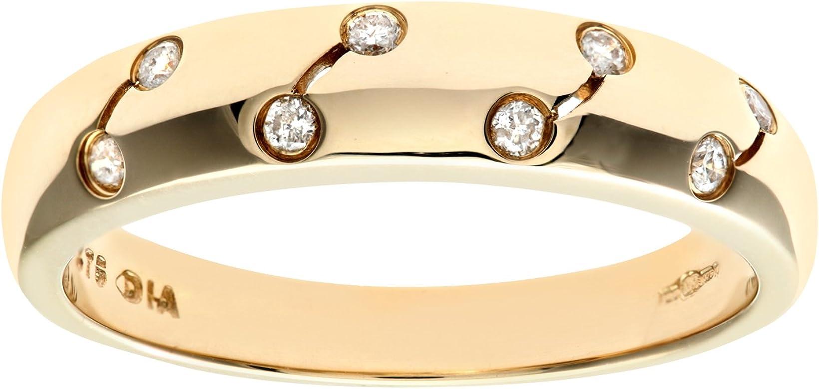 ea80155ba648a 9ct Yellow Gold Diamond Rub Over Set Eternity Ladies Ring
