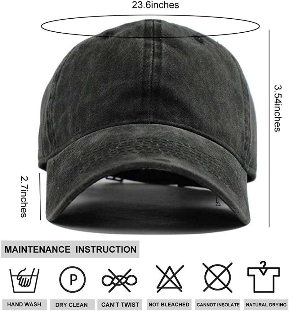 Yantani Men Women Camp Hair Humming Bird Cotton Denim Baseball Hat Adjustable Street Rapper Hat