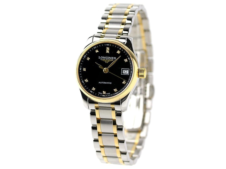 [ロンジン] LONGINES マスターコレクション メンズ 腕時計 L2.128.5.57.7 longines MASTER COLLECTION アナログ ブラック×ゴールド [並行輸入品] B06XQ1W99L