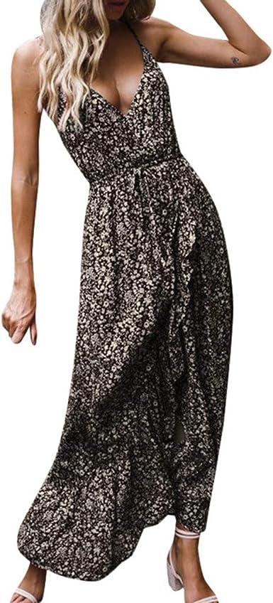 Dresses for Women Dyeing Maxi Dress Short Sleeve Casual Plus Size Cocktail Party Slit Hem Sundress
