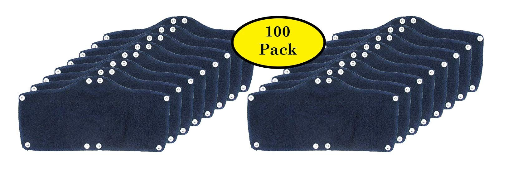 100 Pack Best Hard Hat Sweatband Navy Blue Washable Snap On Sweat Band Liner Safety Accessories by ACERPAL