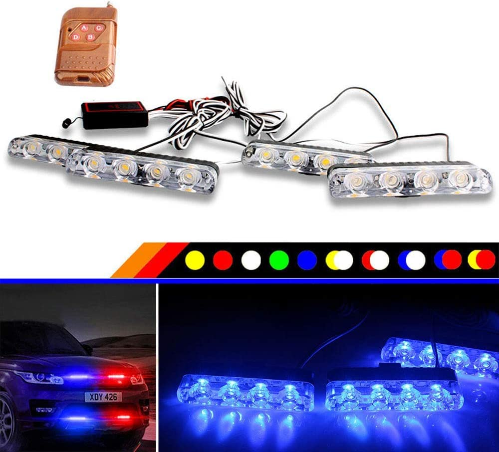 BJZP 16 LED Flash estroboscópico Emergencia Light12V Coche LED ...