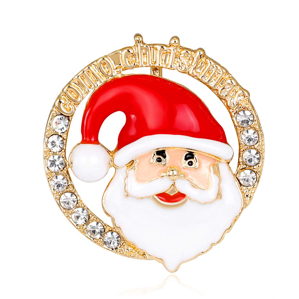 Misright Beautiful Christmas Santa Claus Corsage Brooch Pin Scarf Pins Wedding Ornament