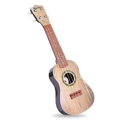 Jouet Musical, Lommer 21-Dans Enfants Emulational Ukulélé Instrument de Musique Guitare Jouet éducatif Avec Plectrum (Modèle-1)