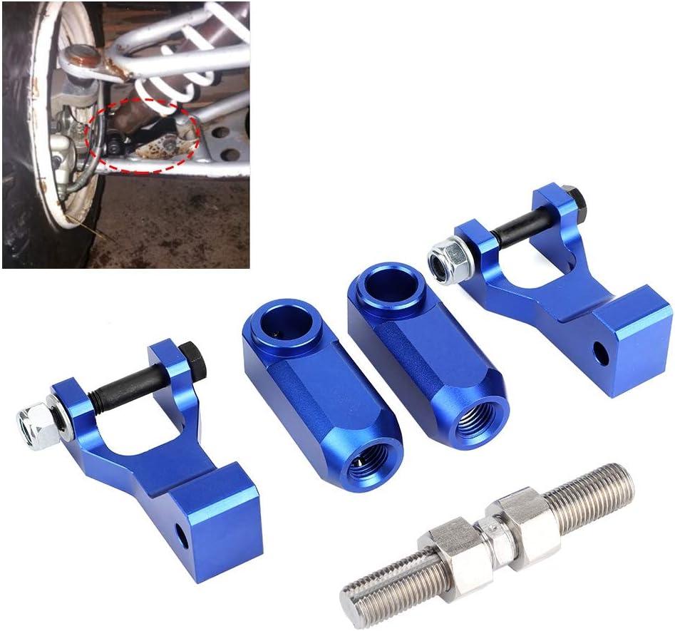 Front Lowering Kit ATV Aluminum Adjustable Front Rear Lowering Kit Fits for Yamaha Raptor 350 660 700 Black
