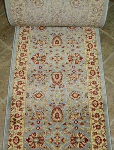 149558 - Rug Depot Dynamic Yazd 2803-510 Light Blue Traditional Hall and Stair Runner - 26