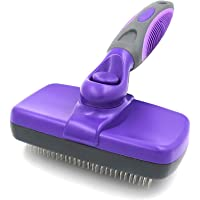 Self-Cleaning Slicker Brush, Pet Grooming Brush—Gently and Effectively Remove Loose Undercoat, Mats and Tangled Hair…