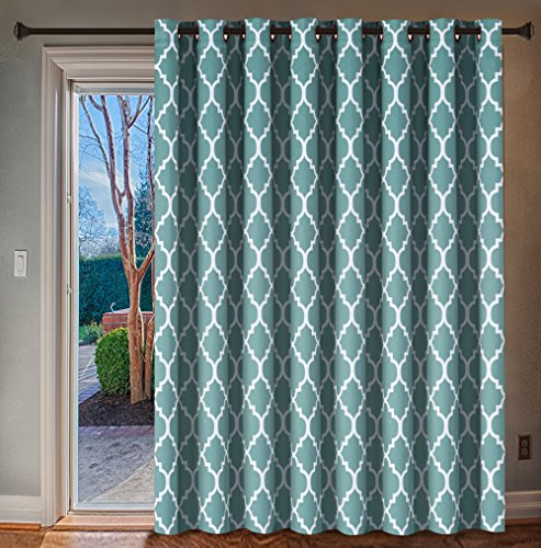 H.VERSAILTEX Energy Efficient Printed Blackout Curtain, Extra Wide Thermal Insulated Patio Panel - Grommet Large Size 100